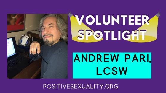 Volunteer Spotlight: Andrew Pari, LCSW