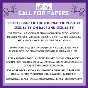 Call for Papers - Race and Sexuality