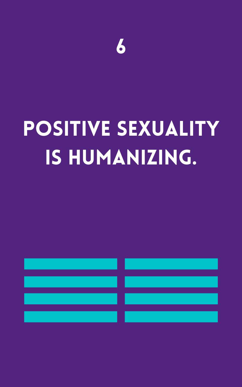 Positive Sexuality is Humanizing