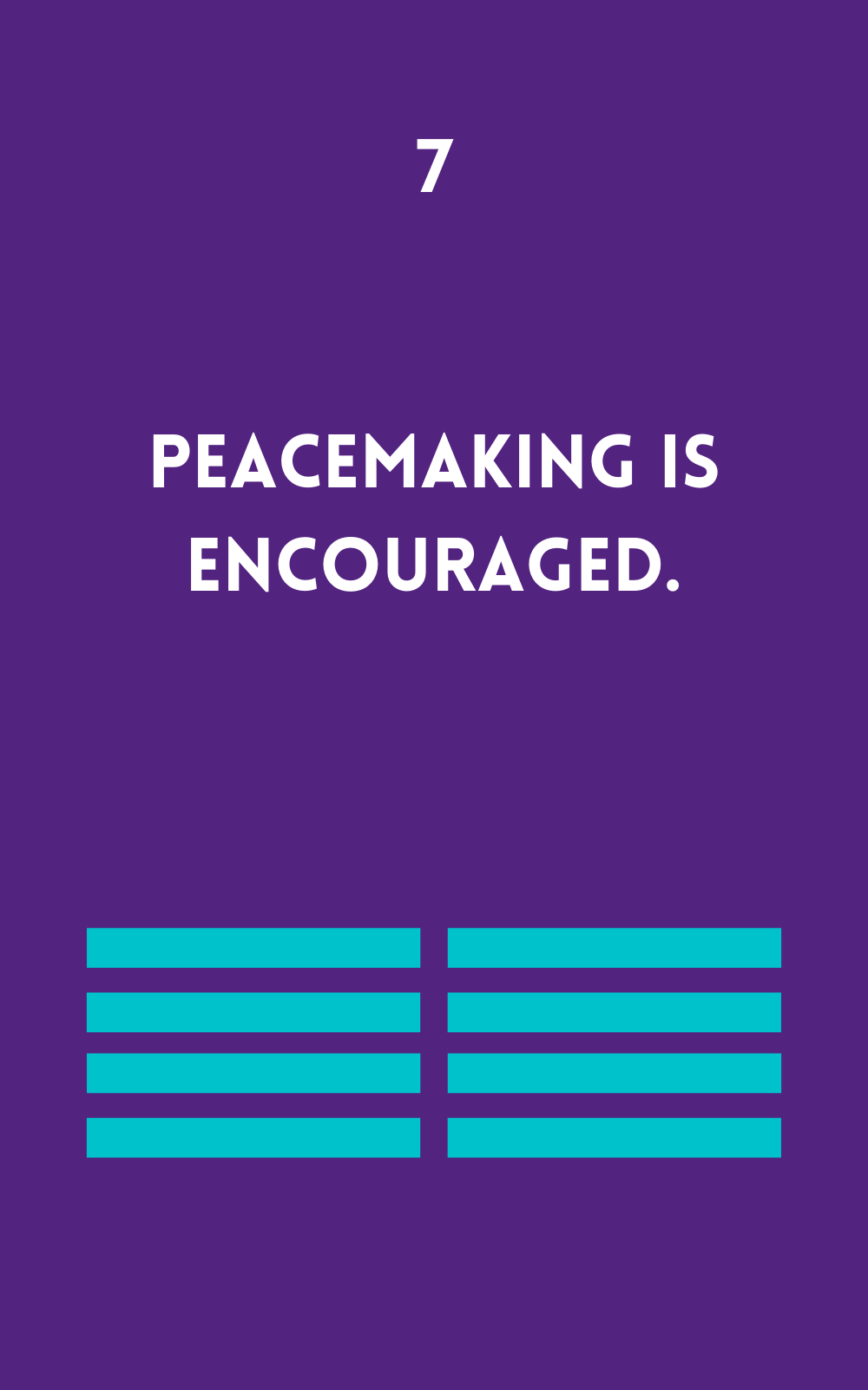 Peacemaking is Encouraged