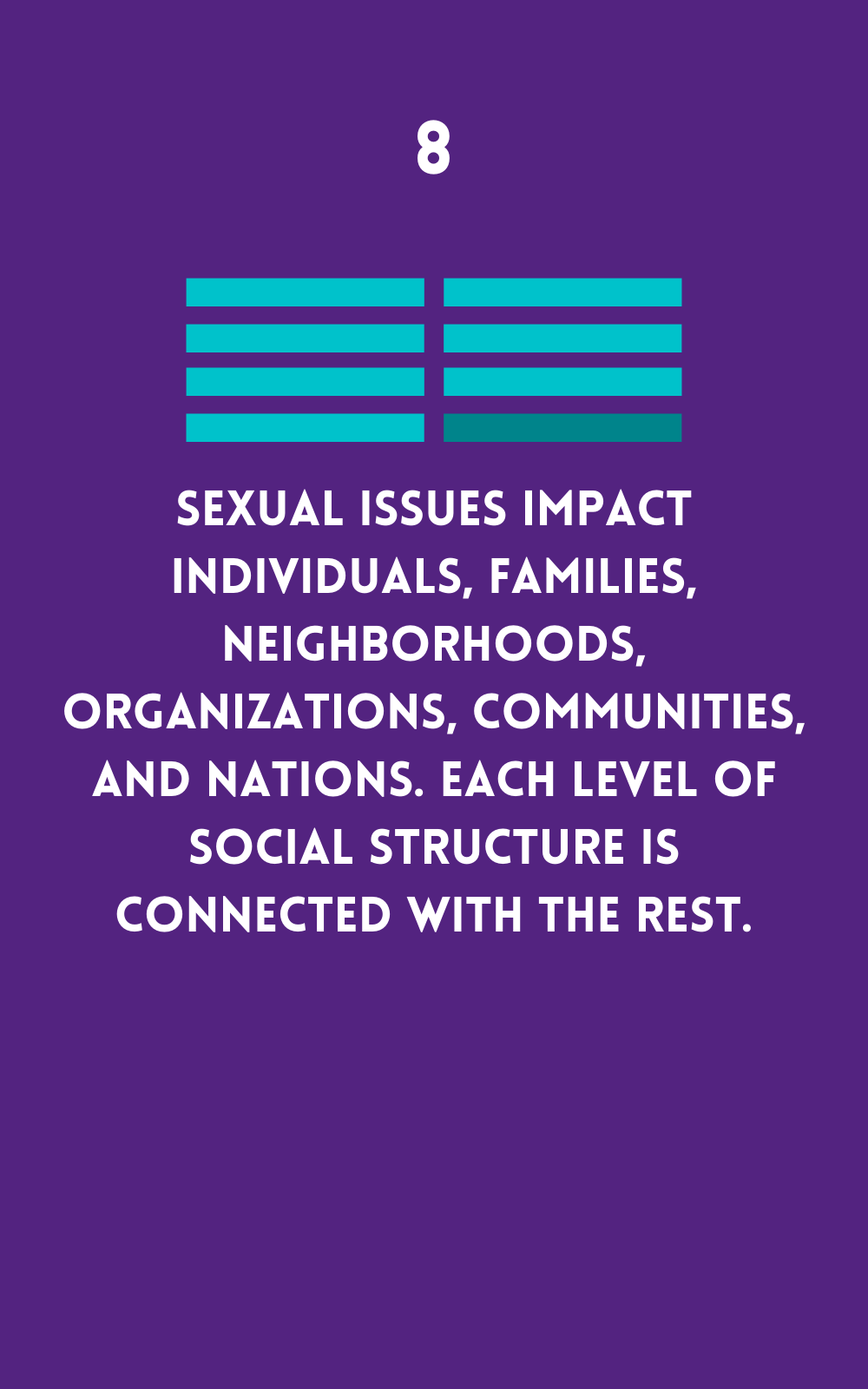 Sexual issues impact individuals, families, communities, and nations