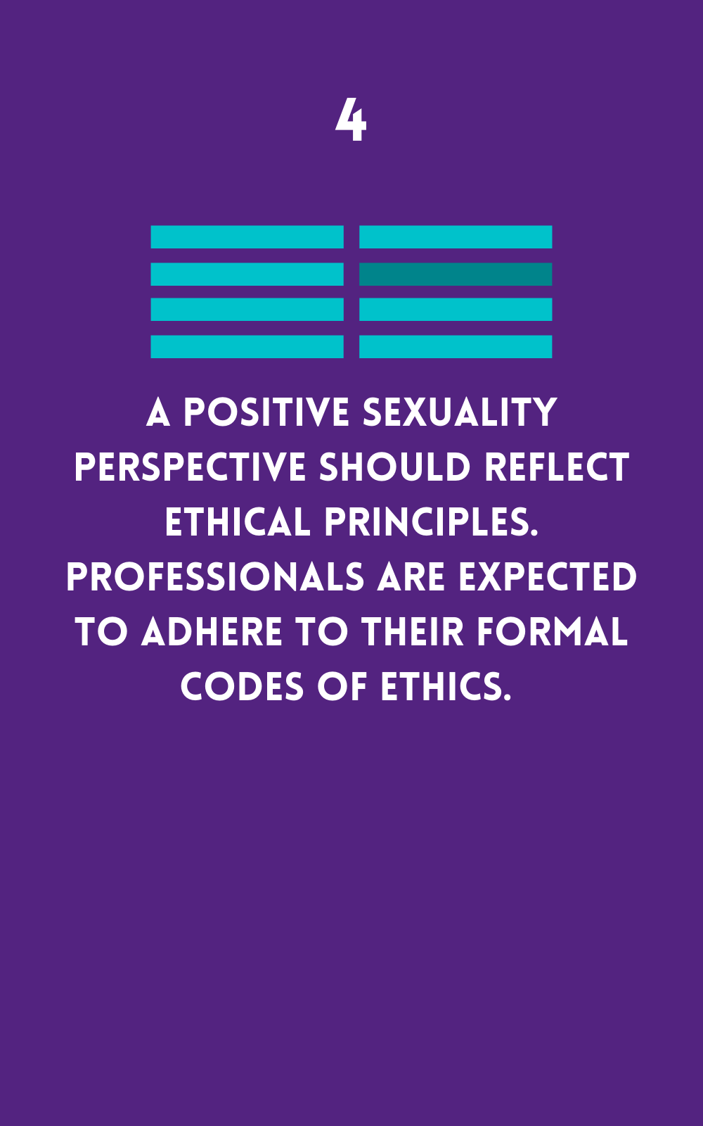Positive Sexuality should reflect ethical principles
